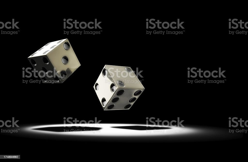 Dice rolling royalty-free stock photo