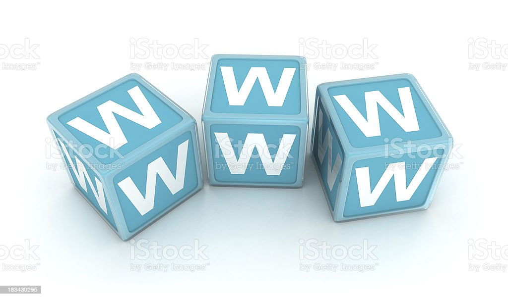 Dice www stock photo