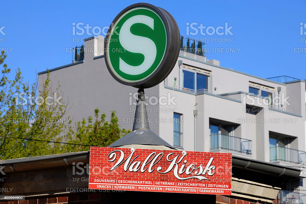 S-Bahn station sign in Berlin stock photo