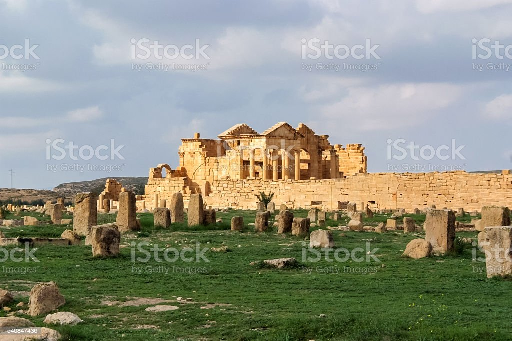 Sbeitla, Tunisia stock photo