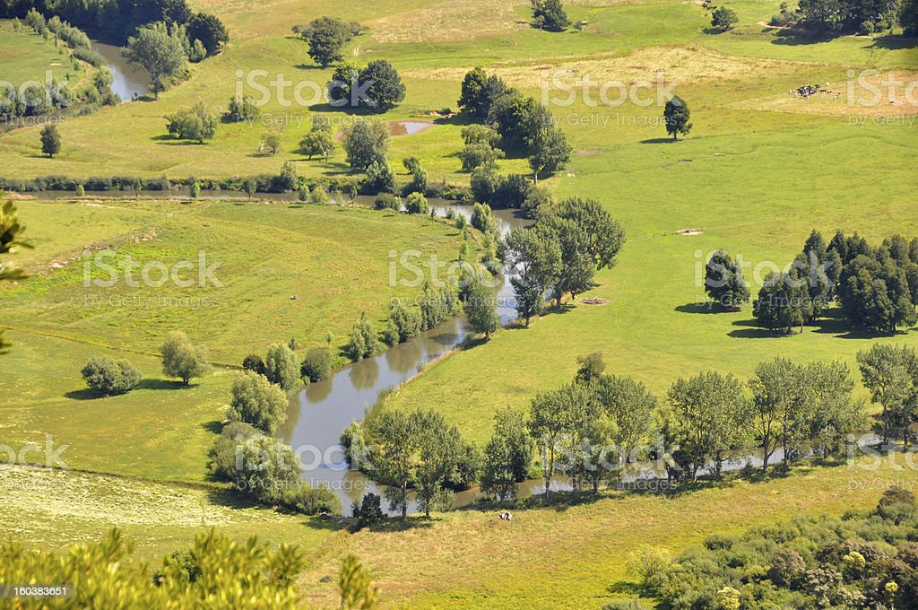 S-Bend river royalty-free stock photo
