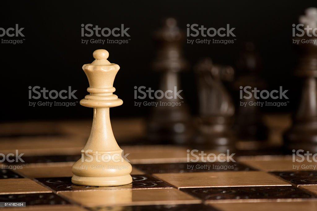 Scacchi su scacchiera stock photo