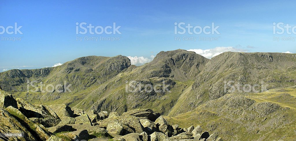 Scafell Pike in the English Lake District stock photo