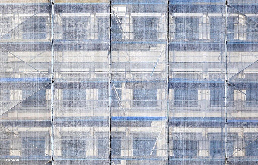 scaffold at a house facade royalty-free stock photo