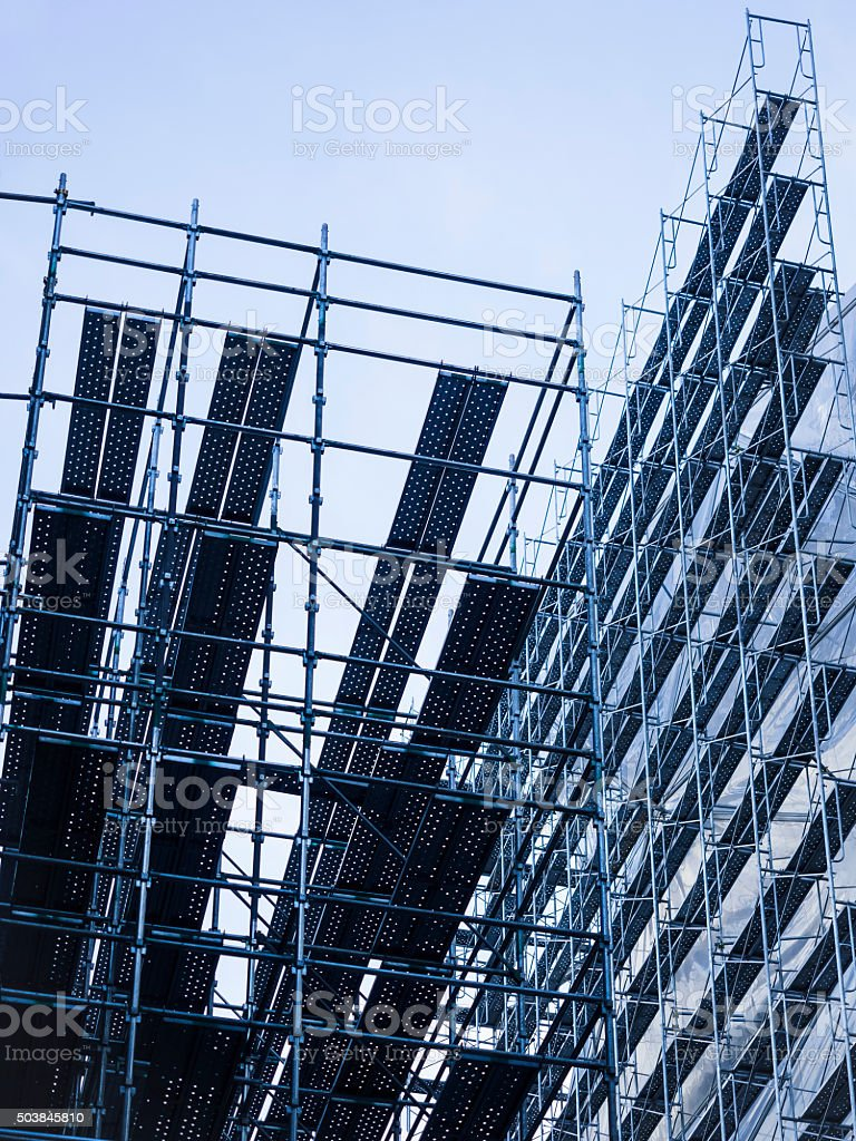 Scaffold Construction Building Site stock photo