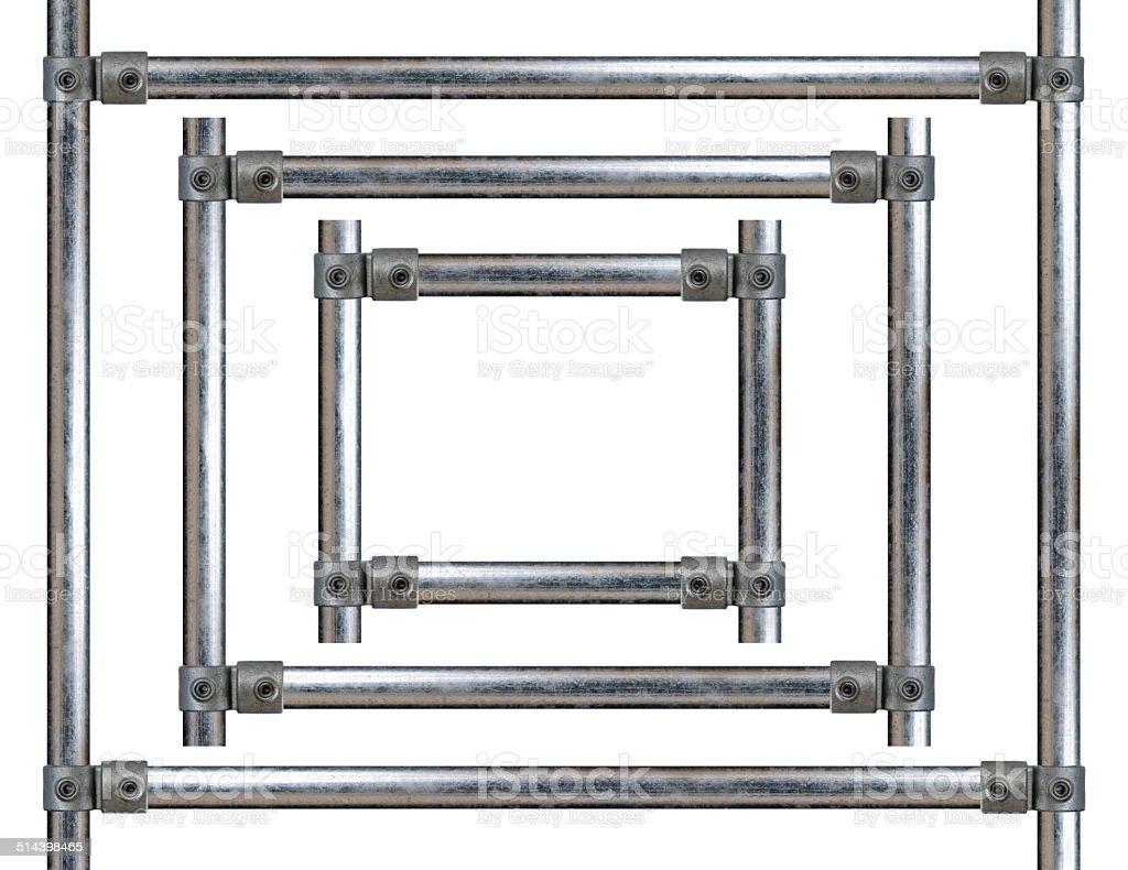 Scaffold frame design element   landscape version stock photo