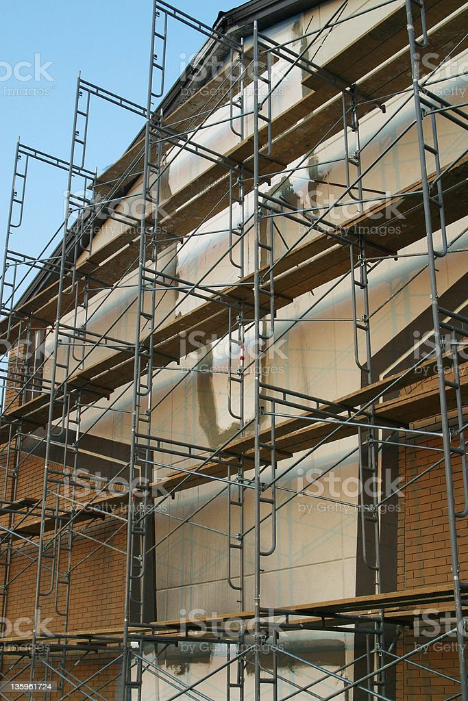 Scaffolding at Building Site 2 royalty-free stock photo