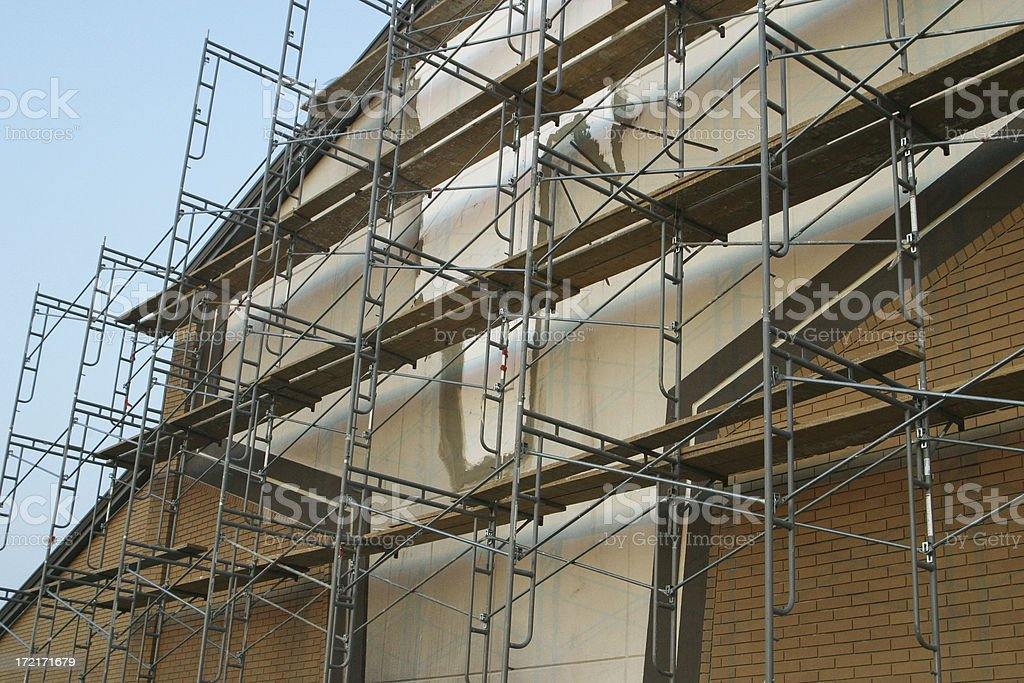 Scaffolding at Building Site 3 royalty-free stock photo