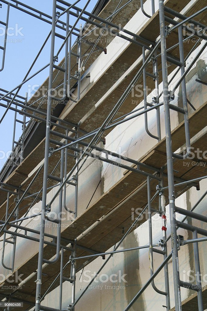 Scaffolding at Building Site 4 royalty-free stock photo