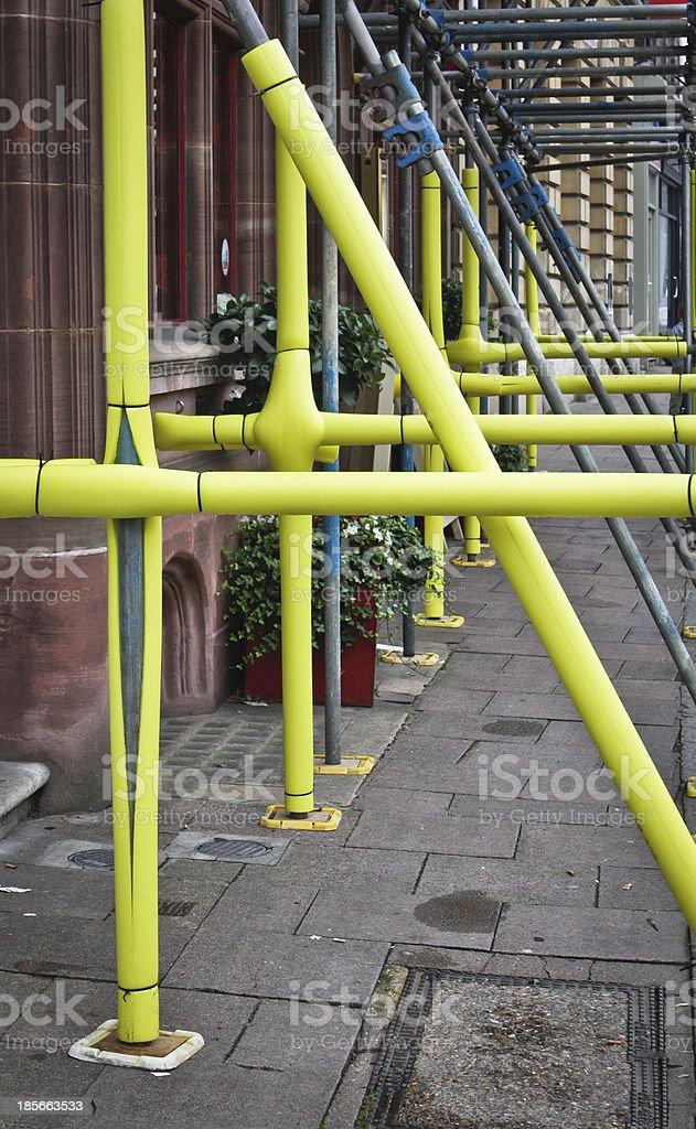 Scaffolding coating stock photo