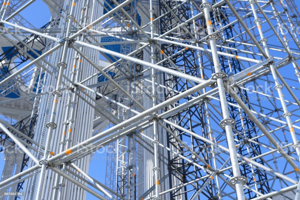 Scaffolding Elements Construction stock photo