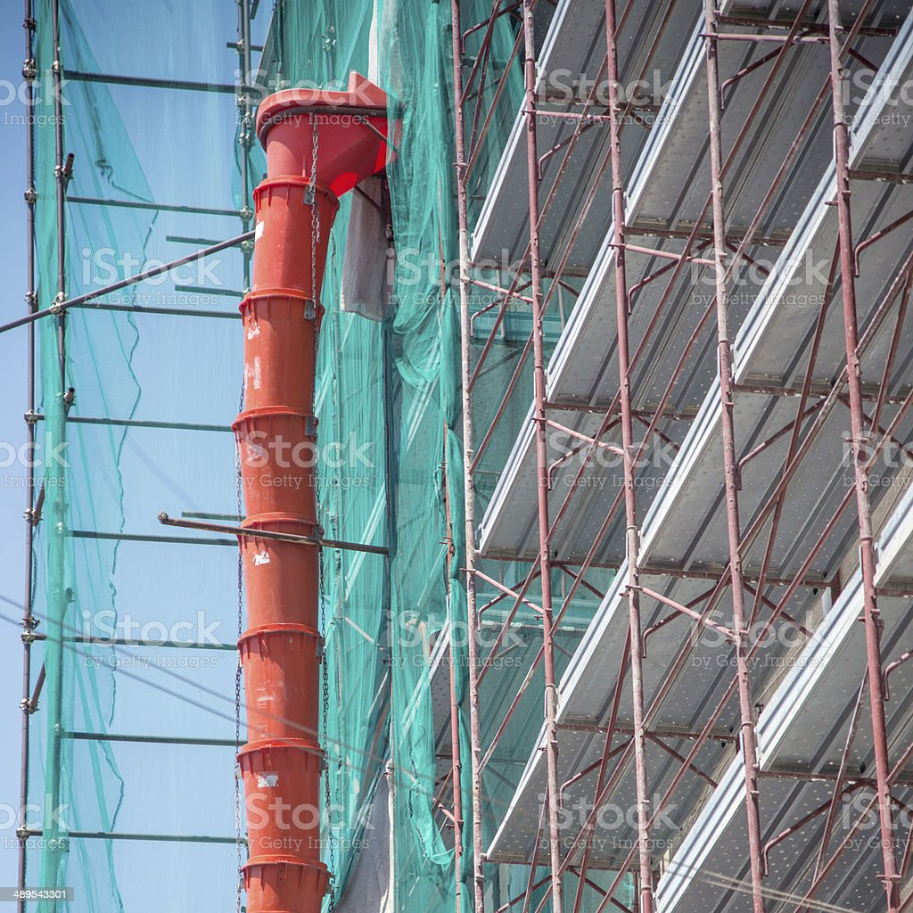 scaffolding for the maintenance of a building royalty-free stock photo