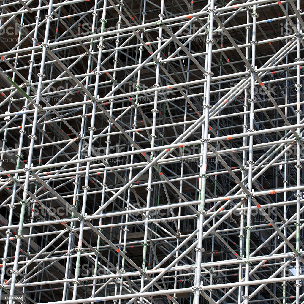 scaffolding in front of  office building royalty-free stock photo