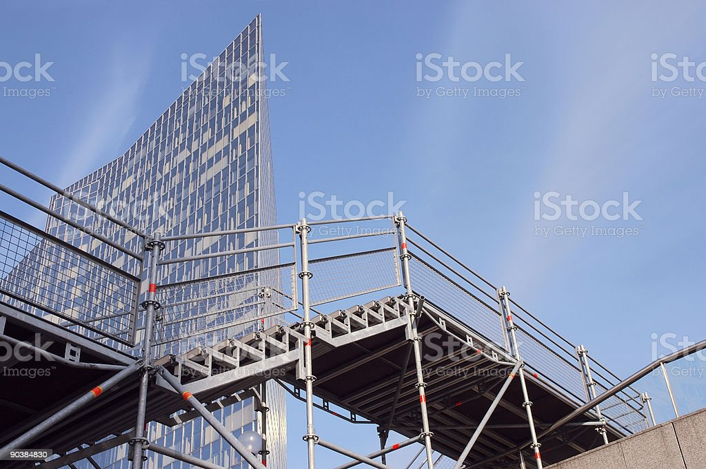 Scaffolding Stairs royalty-free stock photo