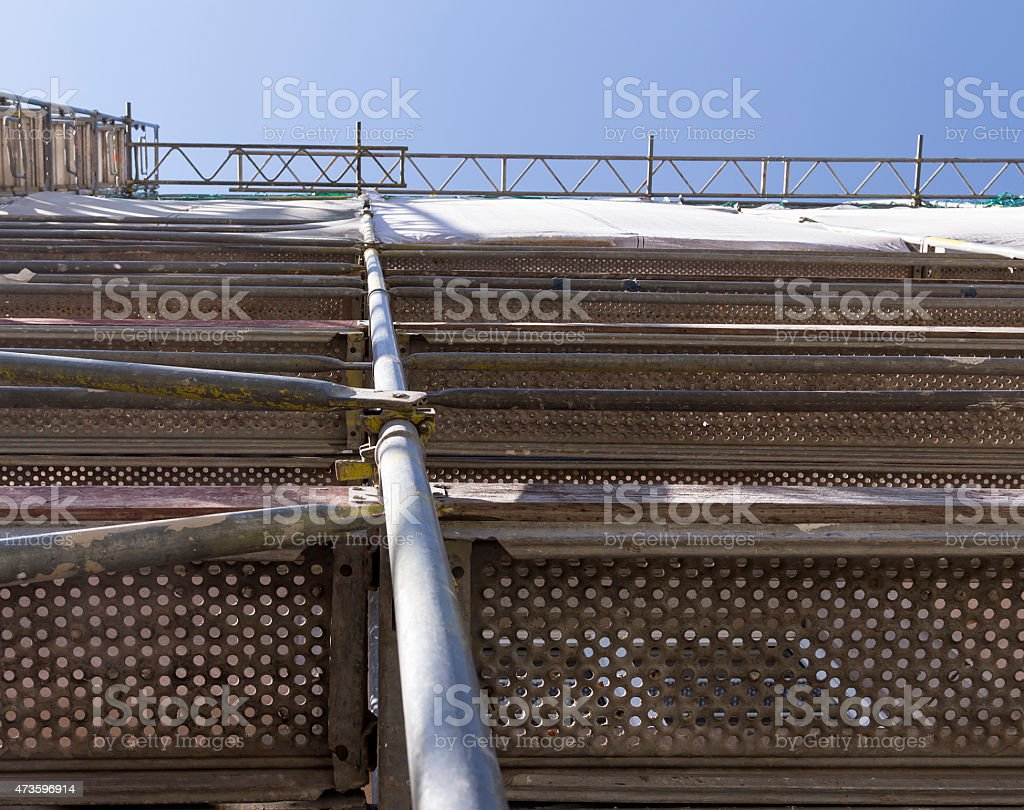 Scaffolding to the sky royalty-free stock photo