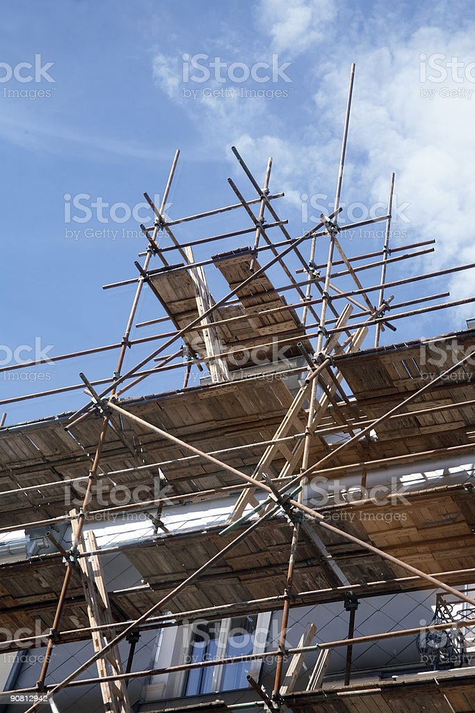 Scaffolding top royalty-free stock photo