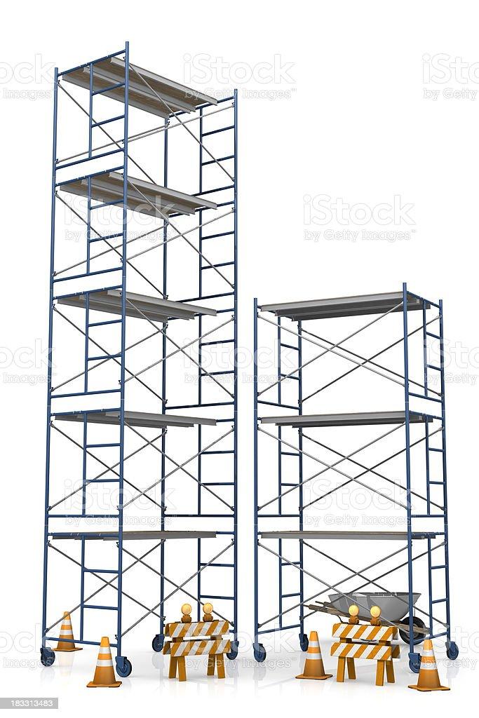 scaffolding under construction stock photo