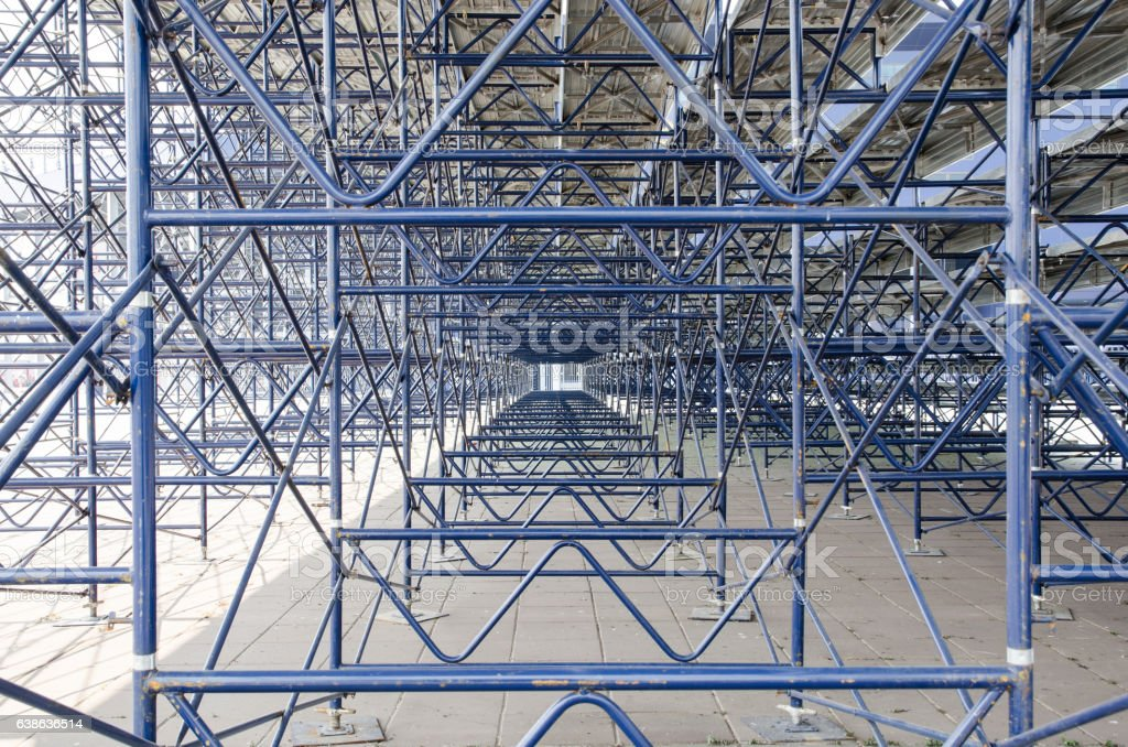 Scaffolding using in Construction Site stock photo