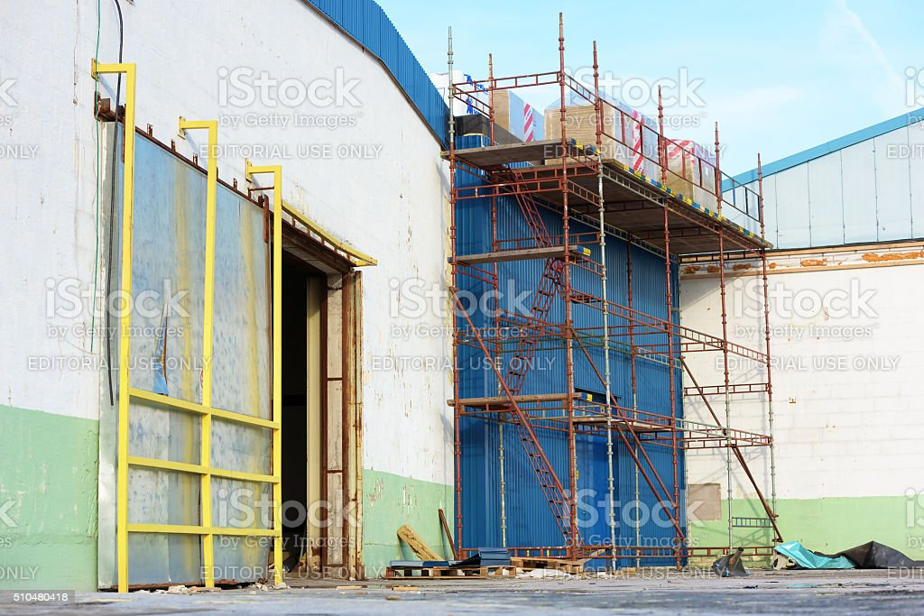 Scaffoldings stock photo