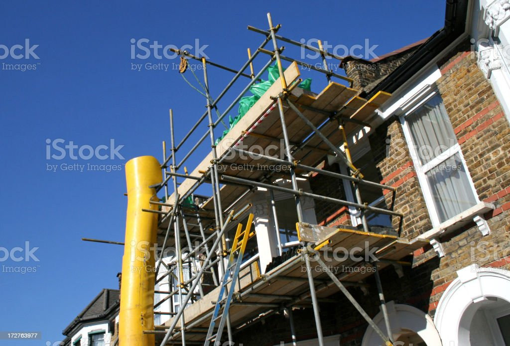 Scaffolds against building facade royalty-free stock photo