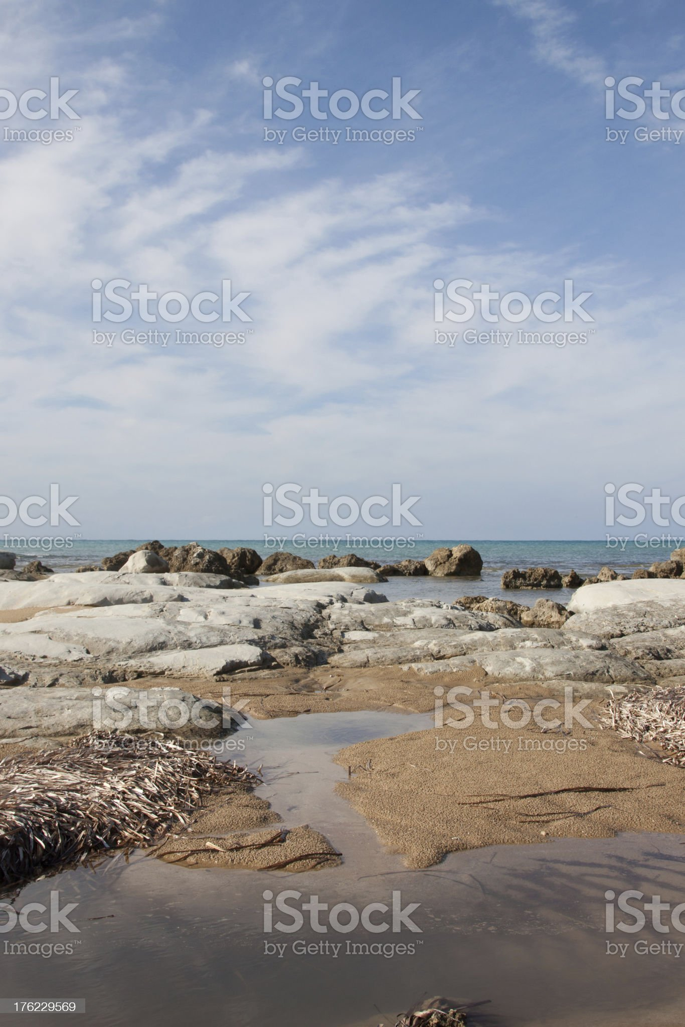 Scala dei turchi, Agrigento royalty-free stock photo