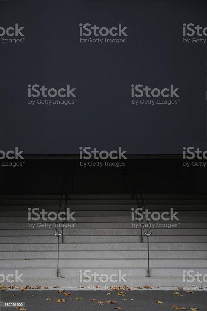 scala verso il nero royalty-free stock photo