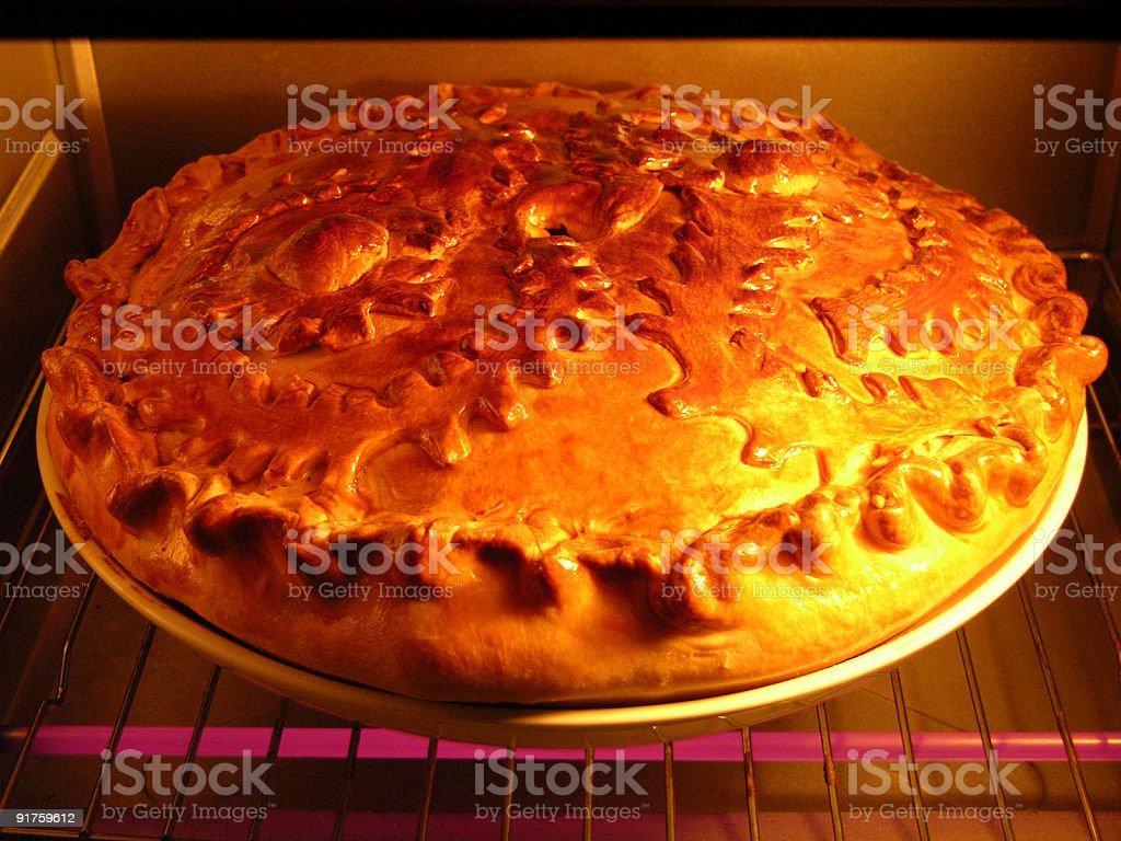Scalding pie stock photo