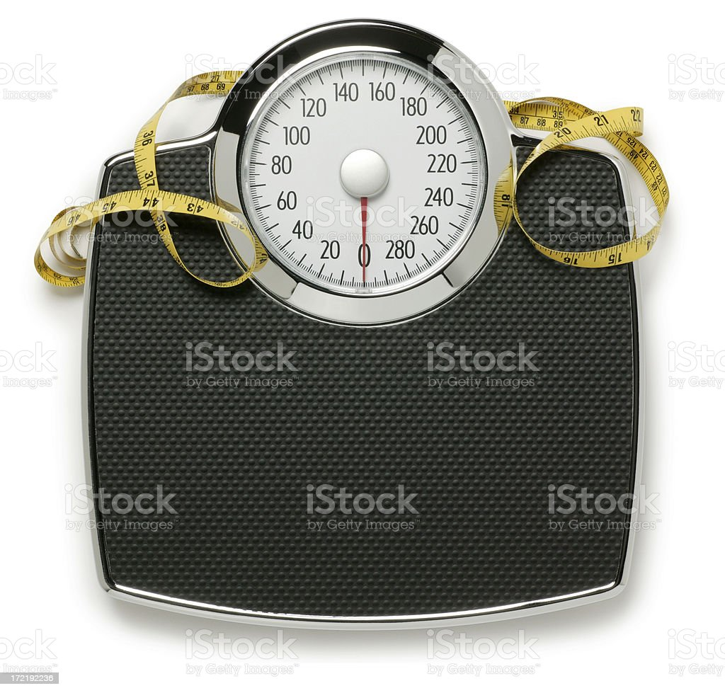 Scale and Tape Measure royalty-free stock photo