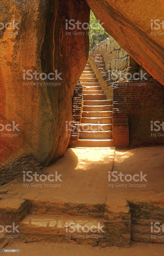 Scale in Sigiriya Ancient Fortress (Lion's Rock), Sri Lanka royalty-free stock photo