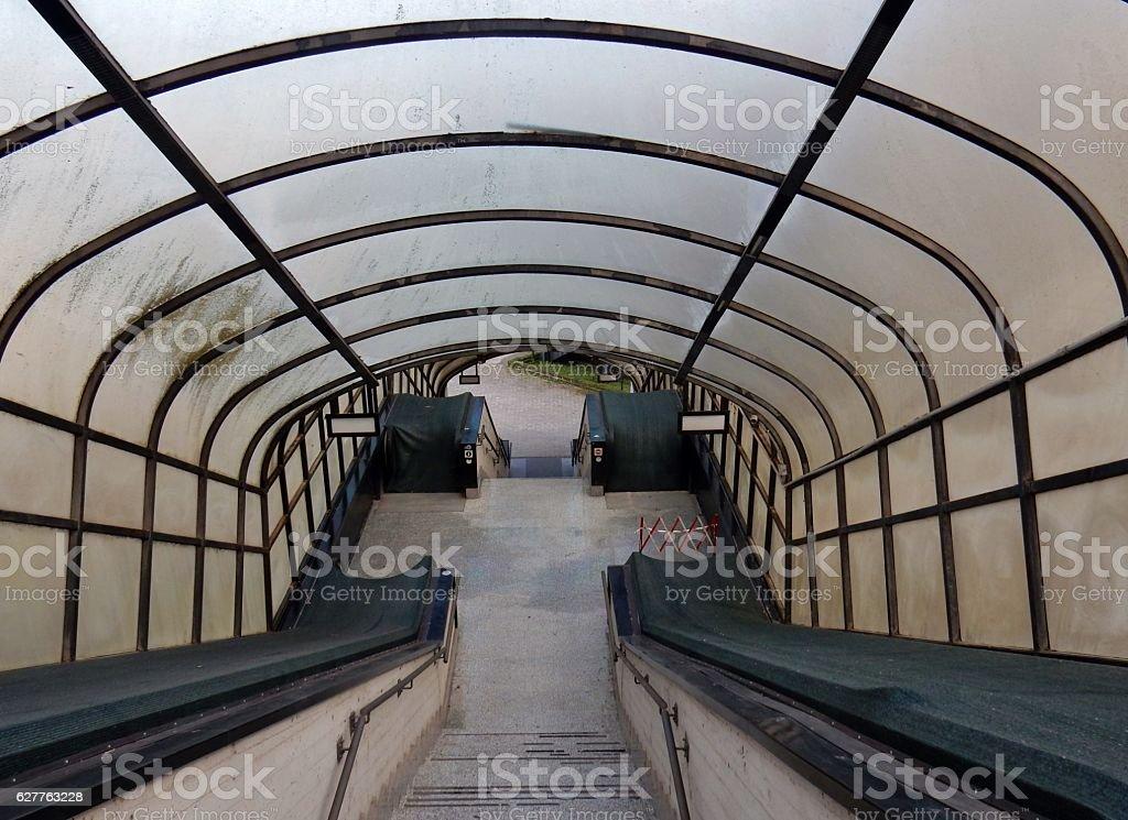 Scale mobili chiuse stock photo
