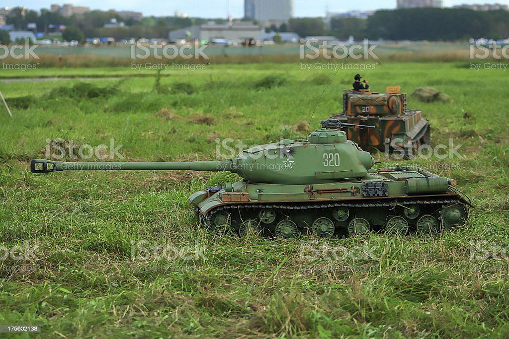 Scale model of a tank. royalty-free stock photo