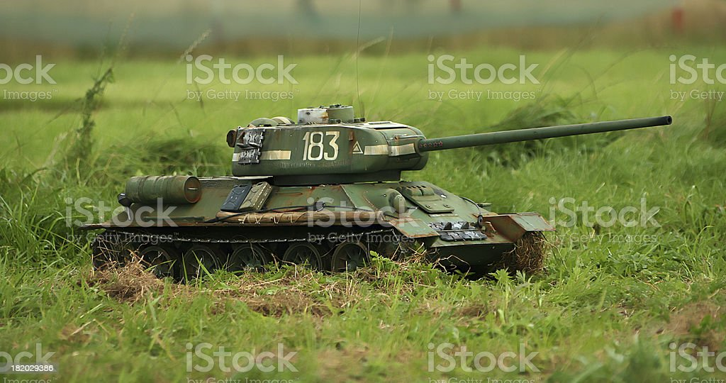Scale model of a tank. T34 royalty-free stock photo