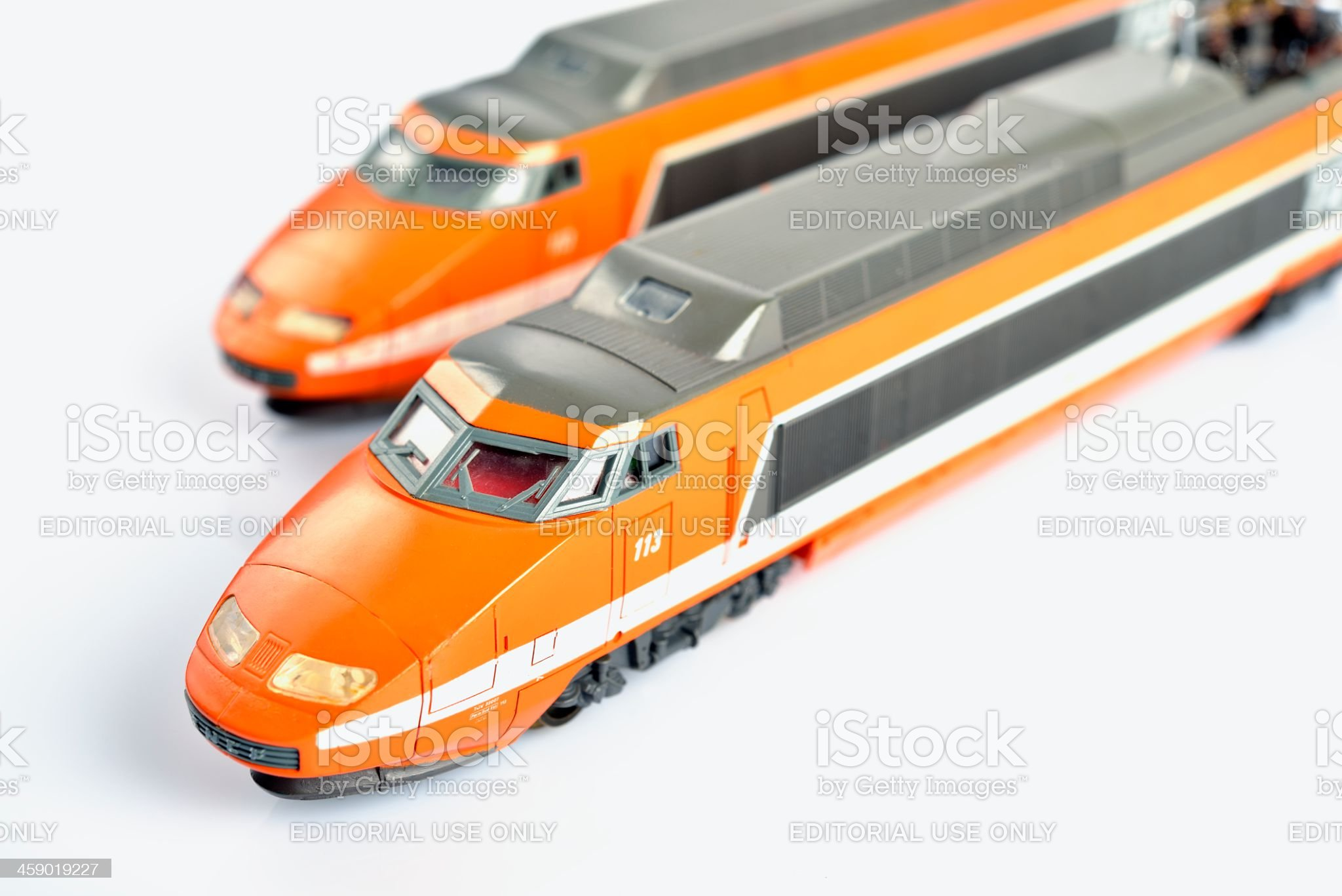 TGV scale model royalty-free stock photo