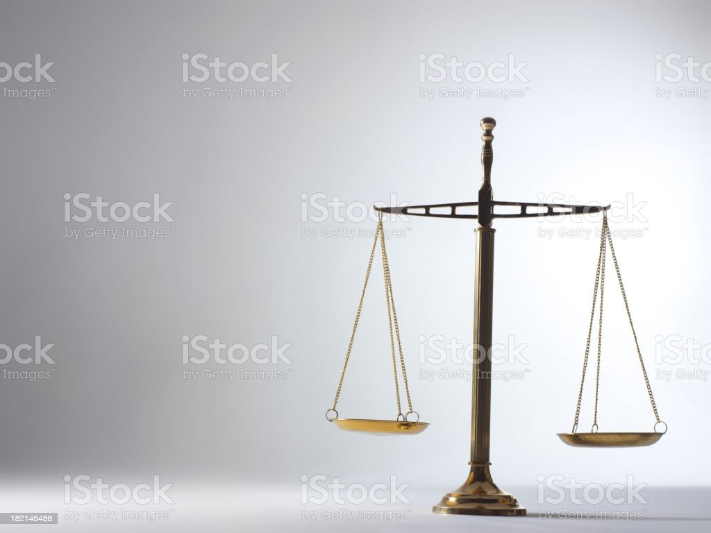 Scale of Justice 4 royalty-free stock photo