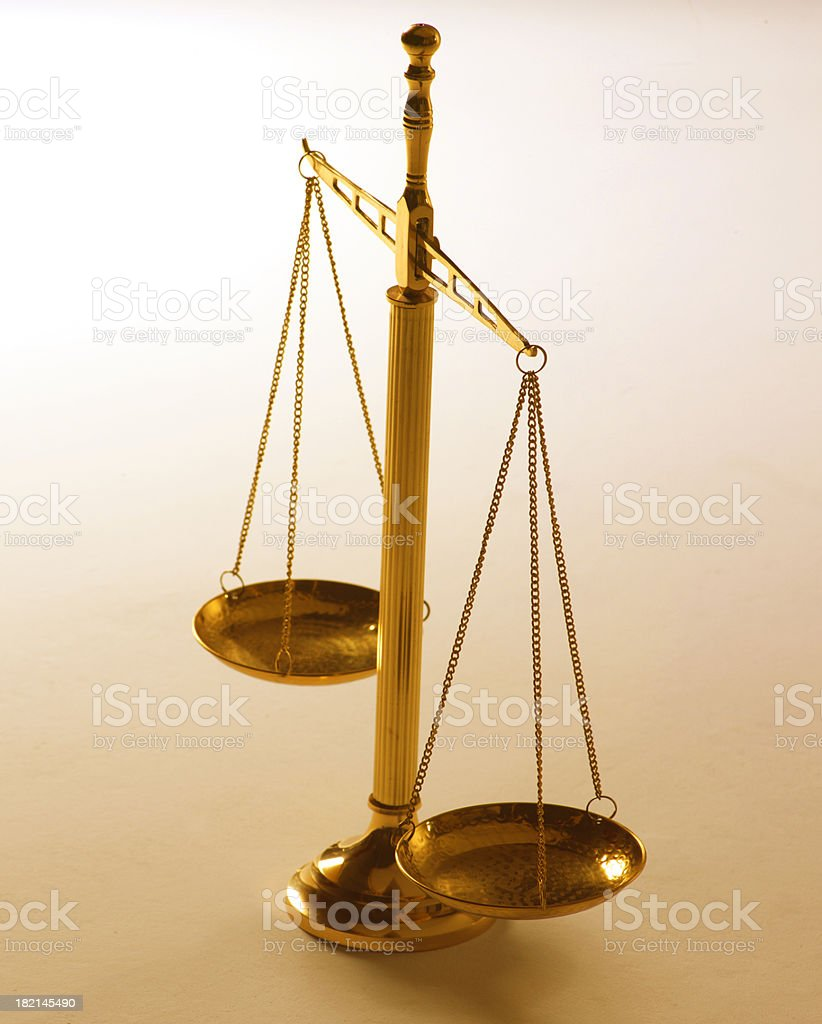 Scale of Justice 6 royalty-free stock photo