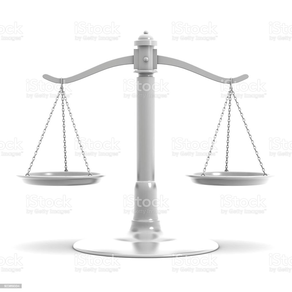 scale of justice royalty-free stock photo