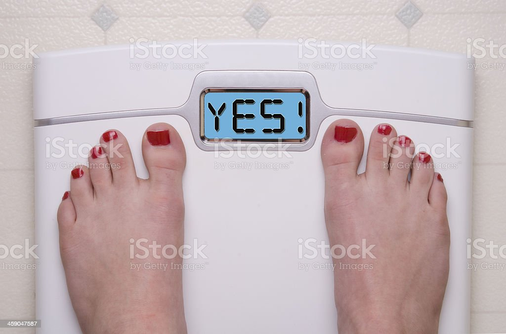 YES Scale stock photo