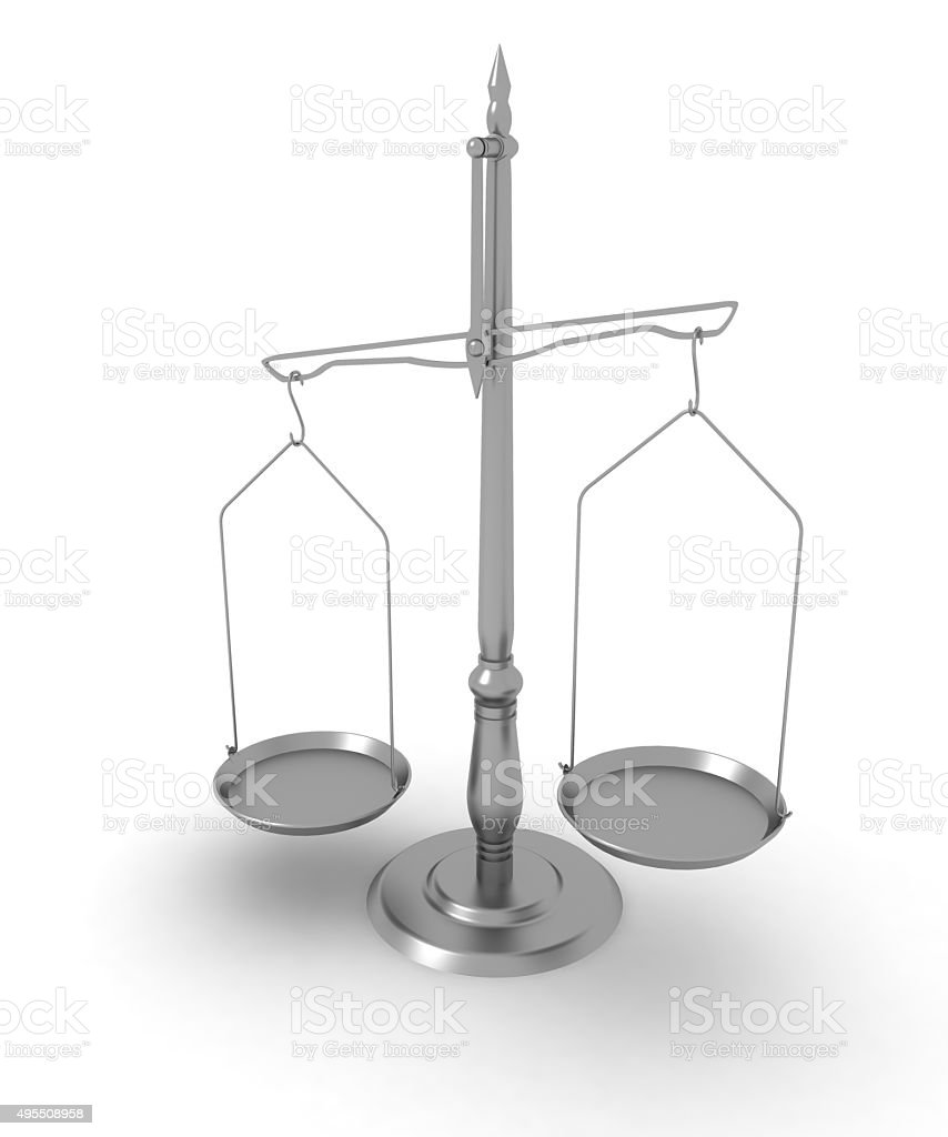 Scales. 3d stock photo