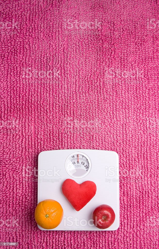 Scales heart fruit stock photo