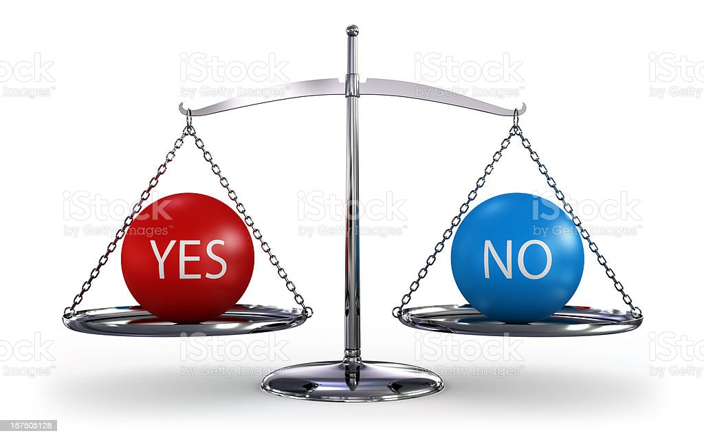 Scales of  decisions royalty-free stock photo