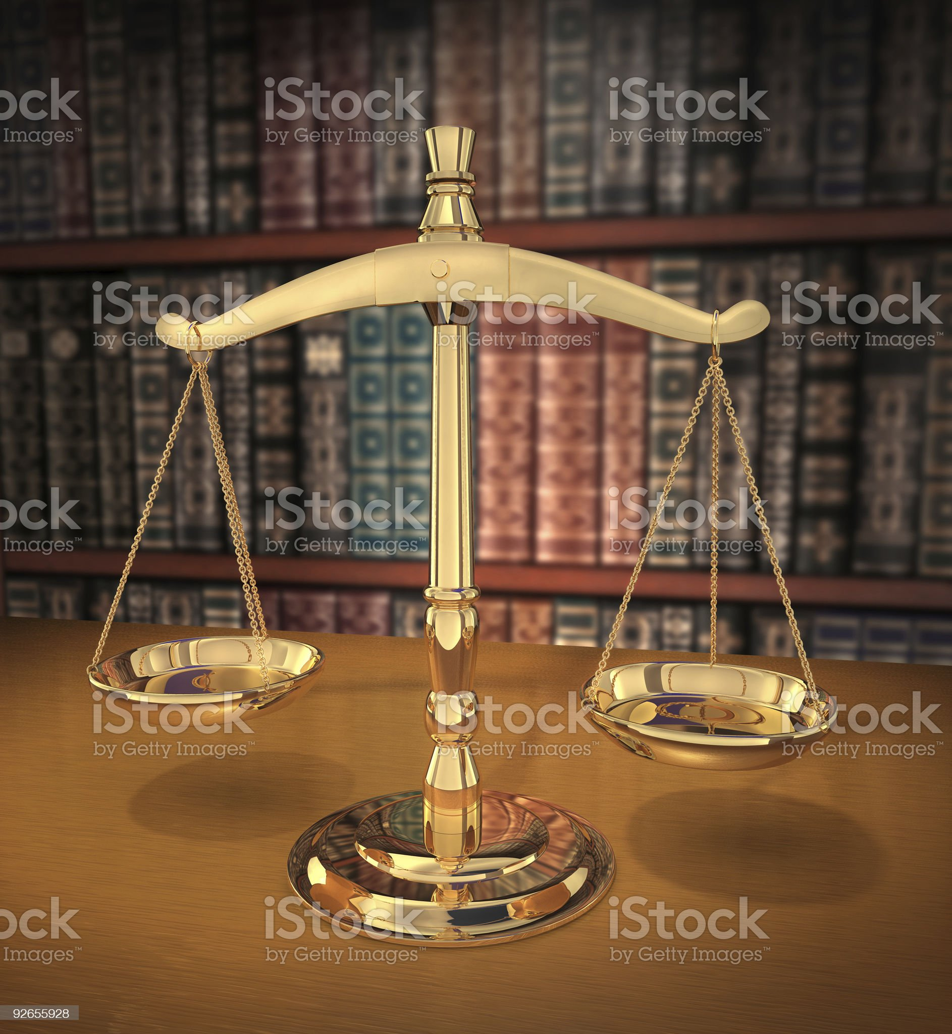 Scales of Justice royalty-free stock photo