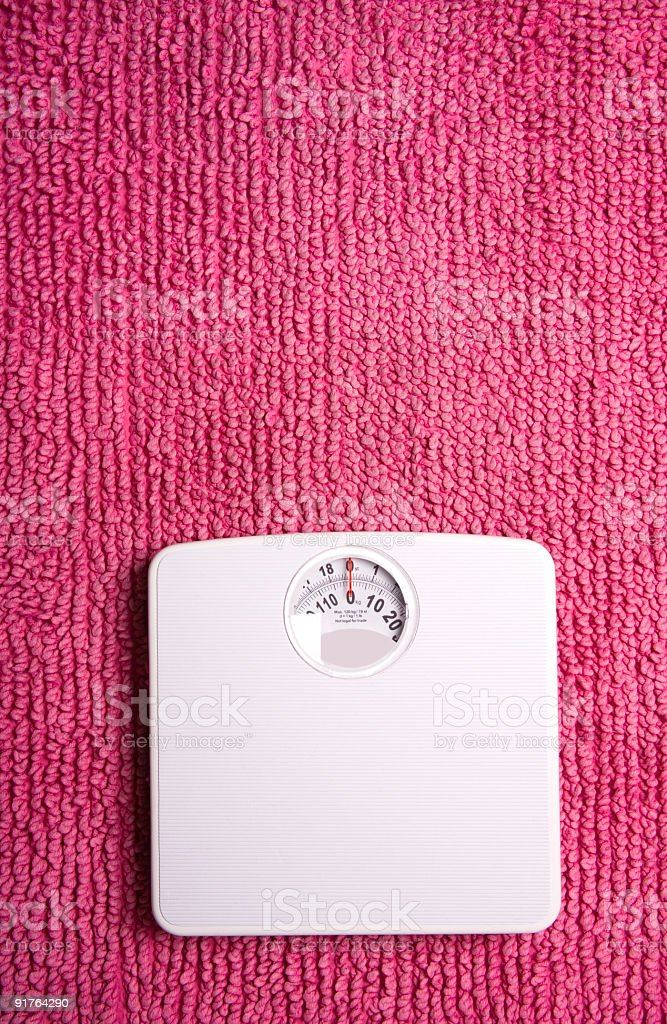 Scales pink stock photo