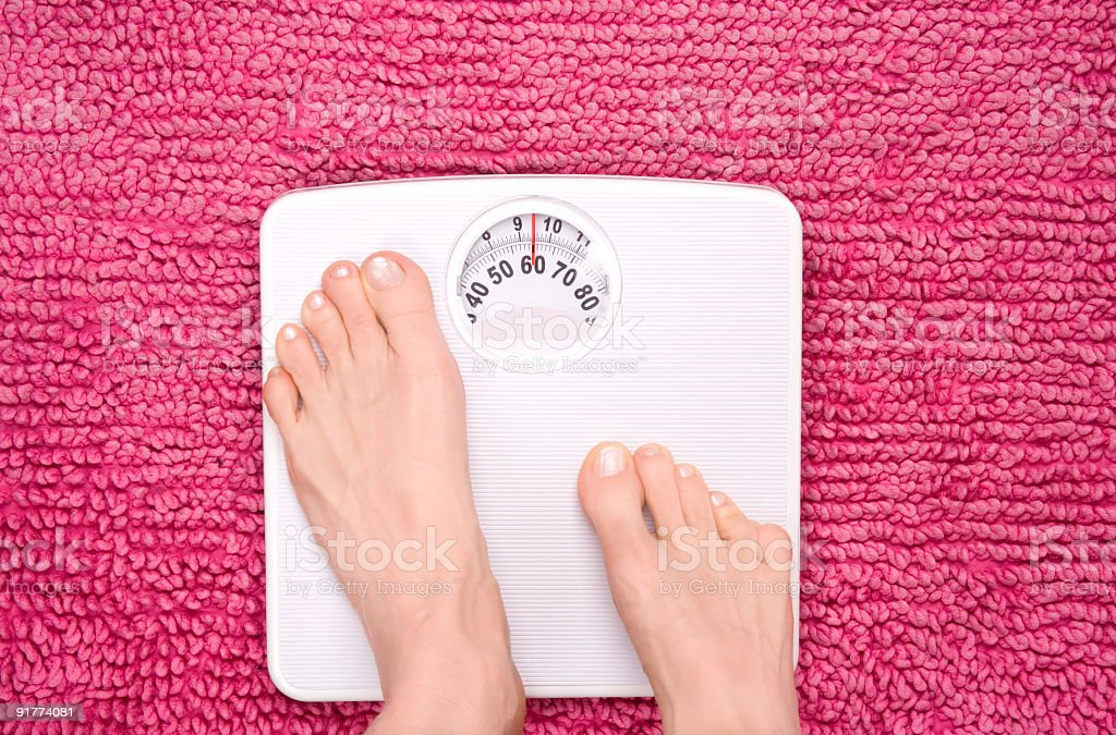 Scales step on stock photo