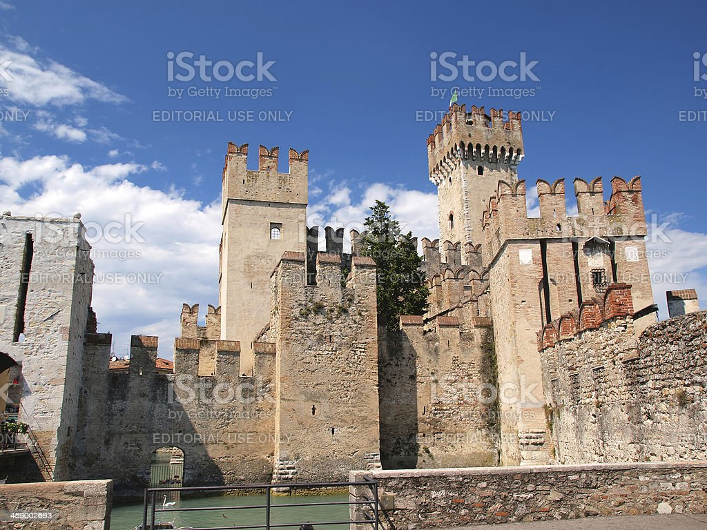 Scaliger castle in Sirmione royalty-free stock photo