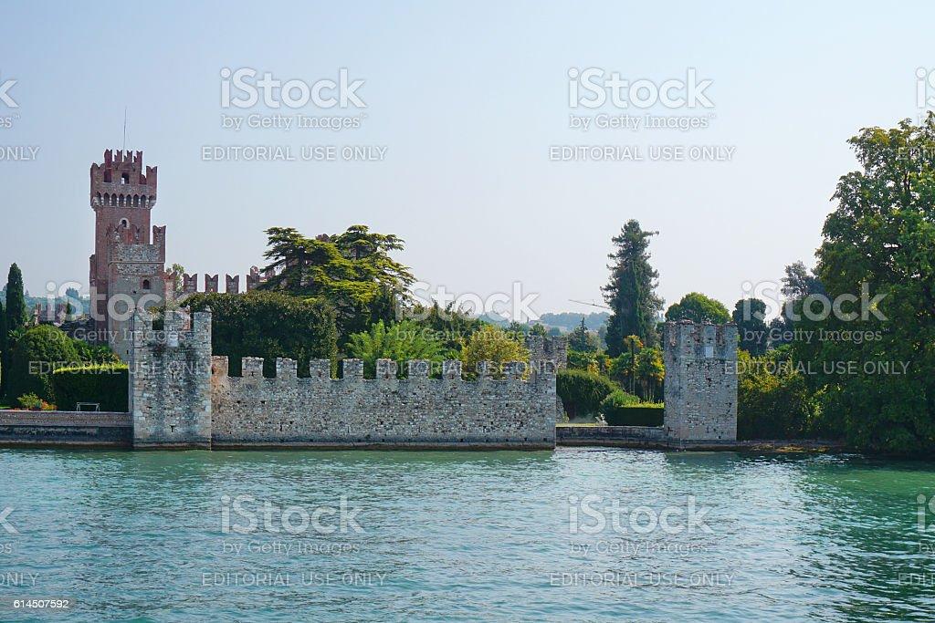Scaliger Castle, Lazise stock photo