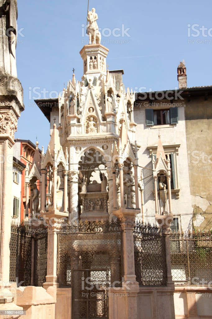Scaliger Tombs in Verona royalty-free stock photo