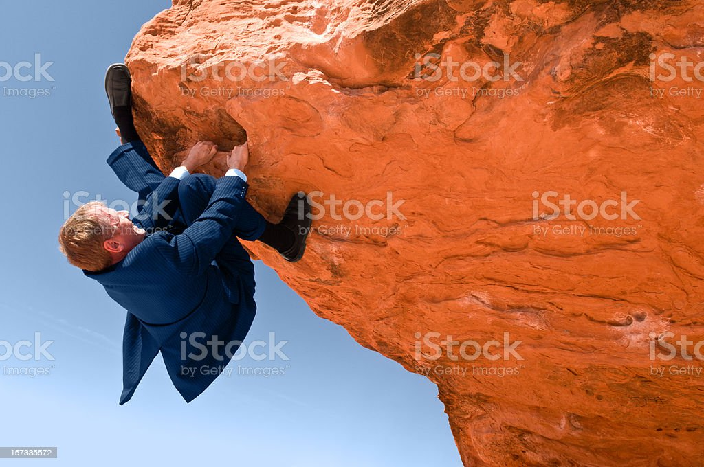 Scaling the Rocks royalty-free stock photo