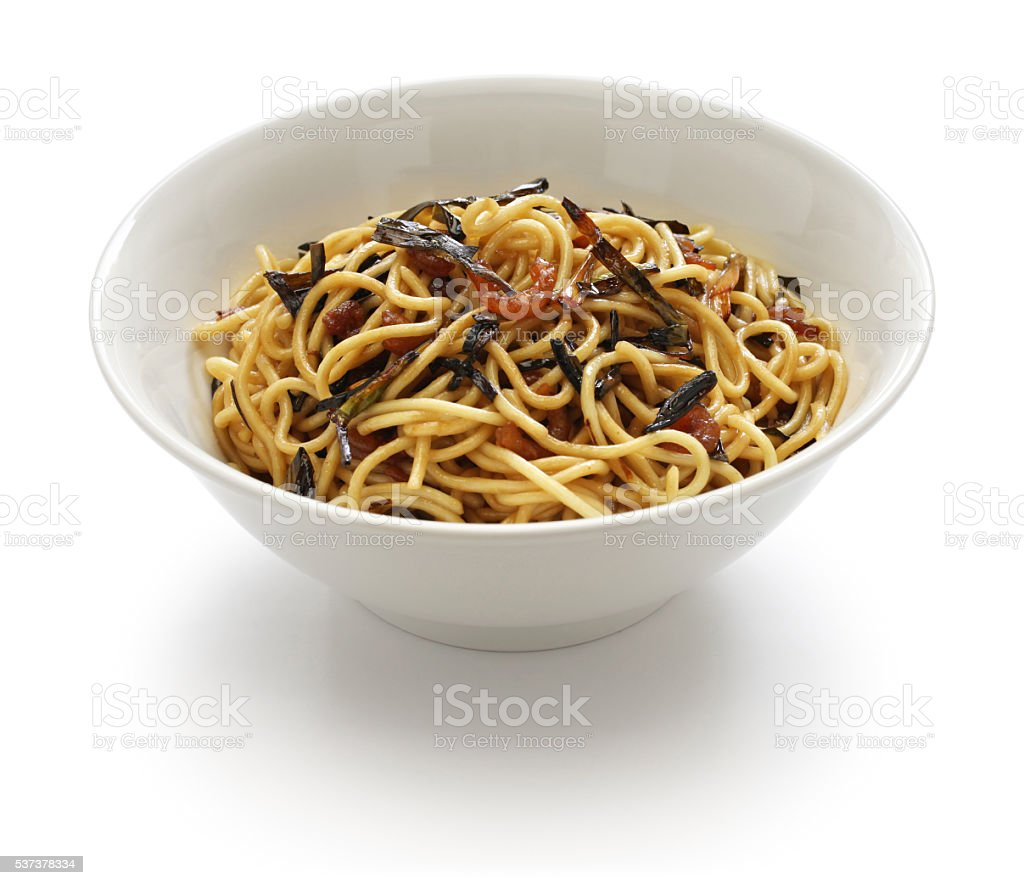 scallion oil noodles, Chinese Shanghai food stock photo
