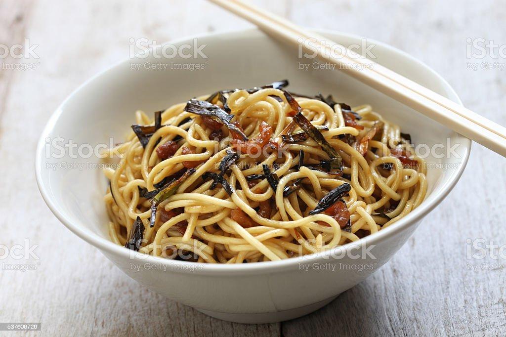 scallion oil noodles, Shanghai food stock photo