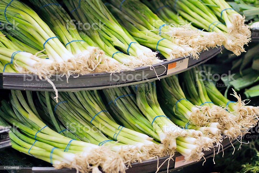 Scallions stock photo